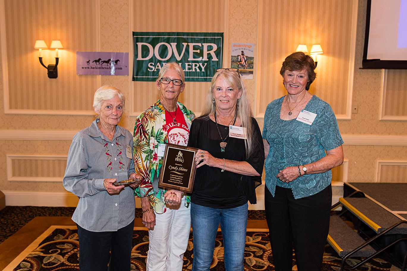 Alicia Wishard Memorial Award being presented to Cyndy Shires